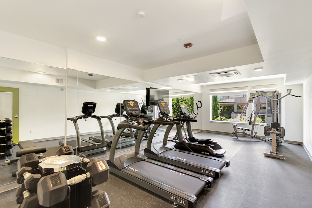 Lofts in Issaquah WA-Vale Apartments with Free Weights